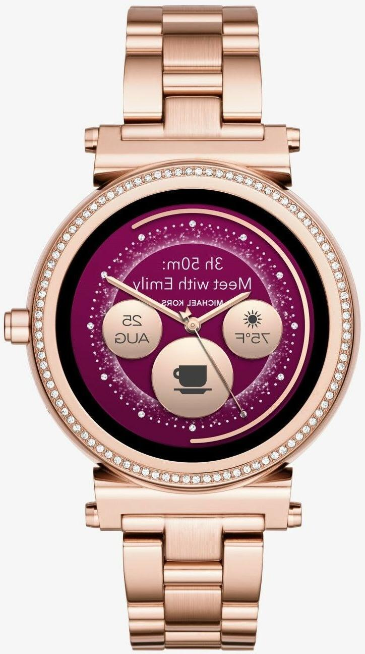 access sofie smartwatch stainless steel