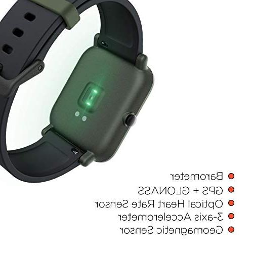 ca5f6e30a Amazfit Bip Huami with Heart Rate Activity Tracking, Sleep Monitoring,  Battery Bluetooth, Service