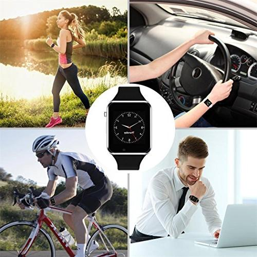Bluetooth Smartwatch Touch Screen with Music Player Samsung iPhone, Sports Fitness Tracker for Women Kids