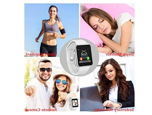 Bluetooth Smart Anti-Lost SIM Card Camera Music Player Support Android Samsung iOS Sports Fitness Women Kids