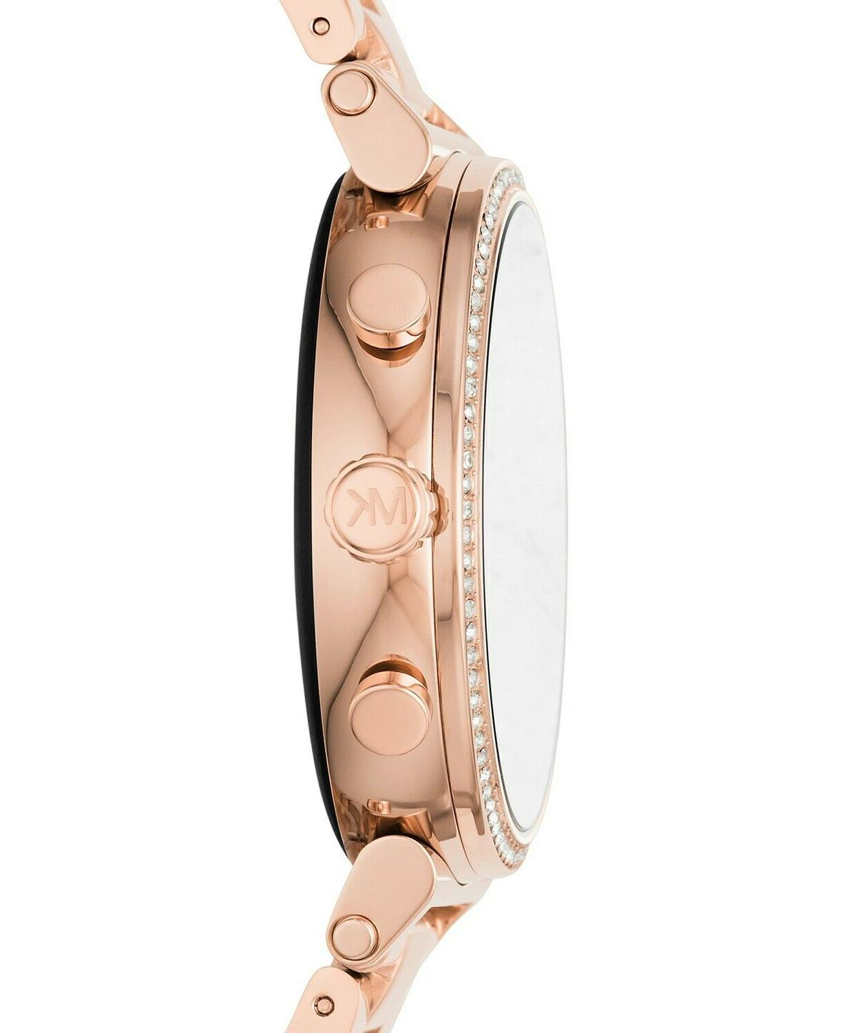 BRAND ACCESS Sofie Pavé Rose Gold-Tone Smartwatch MKT5022