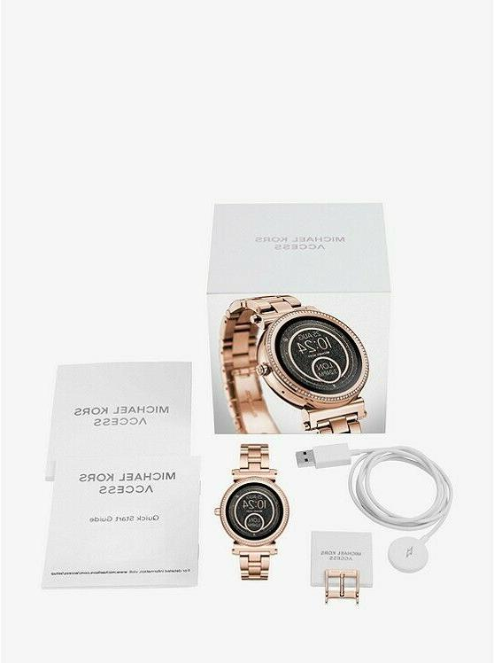 BRAND NEW MICHAEL KORS ACCESS Sofie Pavé Rose Gold-Tone Sma