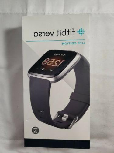 fb415srgy versa smart watch charcoal open box