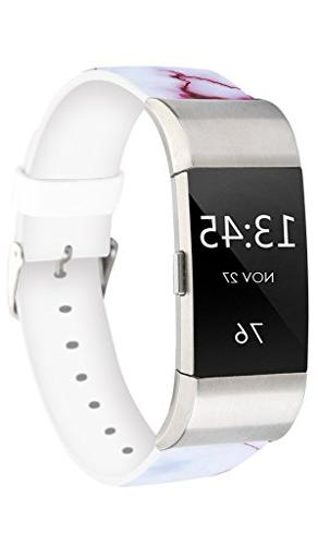 Fitbit Bands,Jolook Wristband Straps Bands Charge 2 - Red Cracks