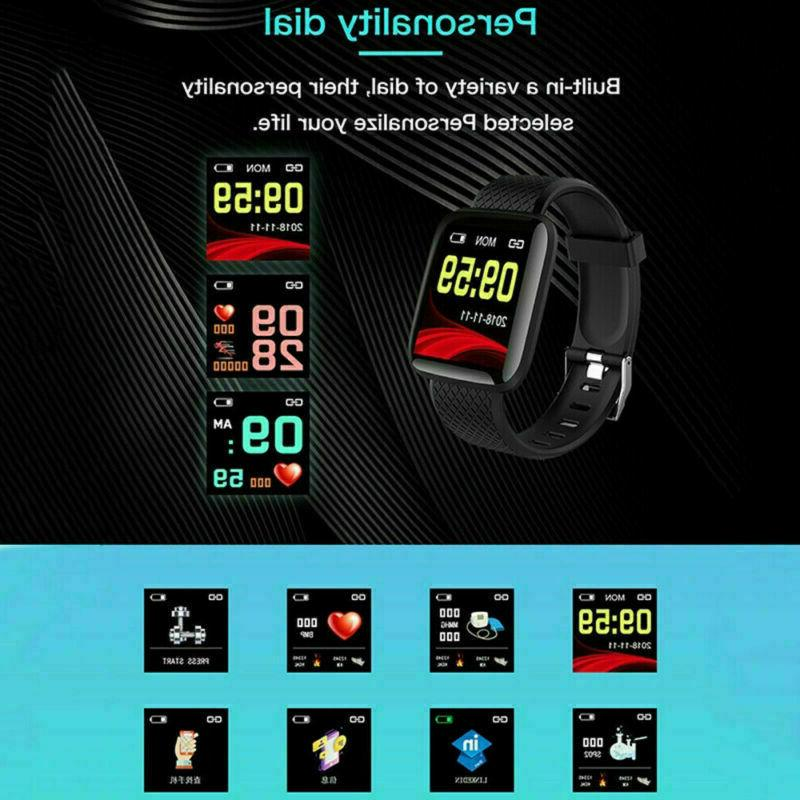 Fitness Tracker Watch Band Heart Rate Oxygen