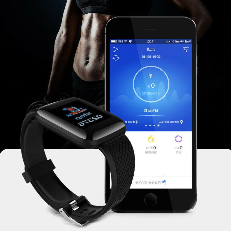 Fitness Tracker Watch Band Heart Rate Oxygen Blood