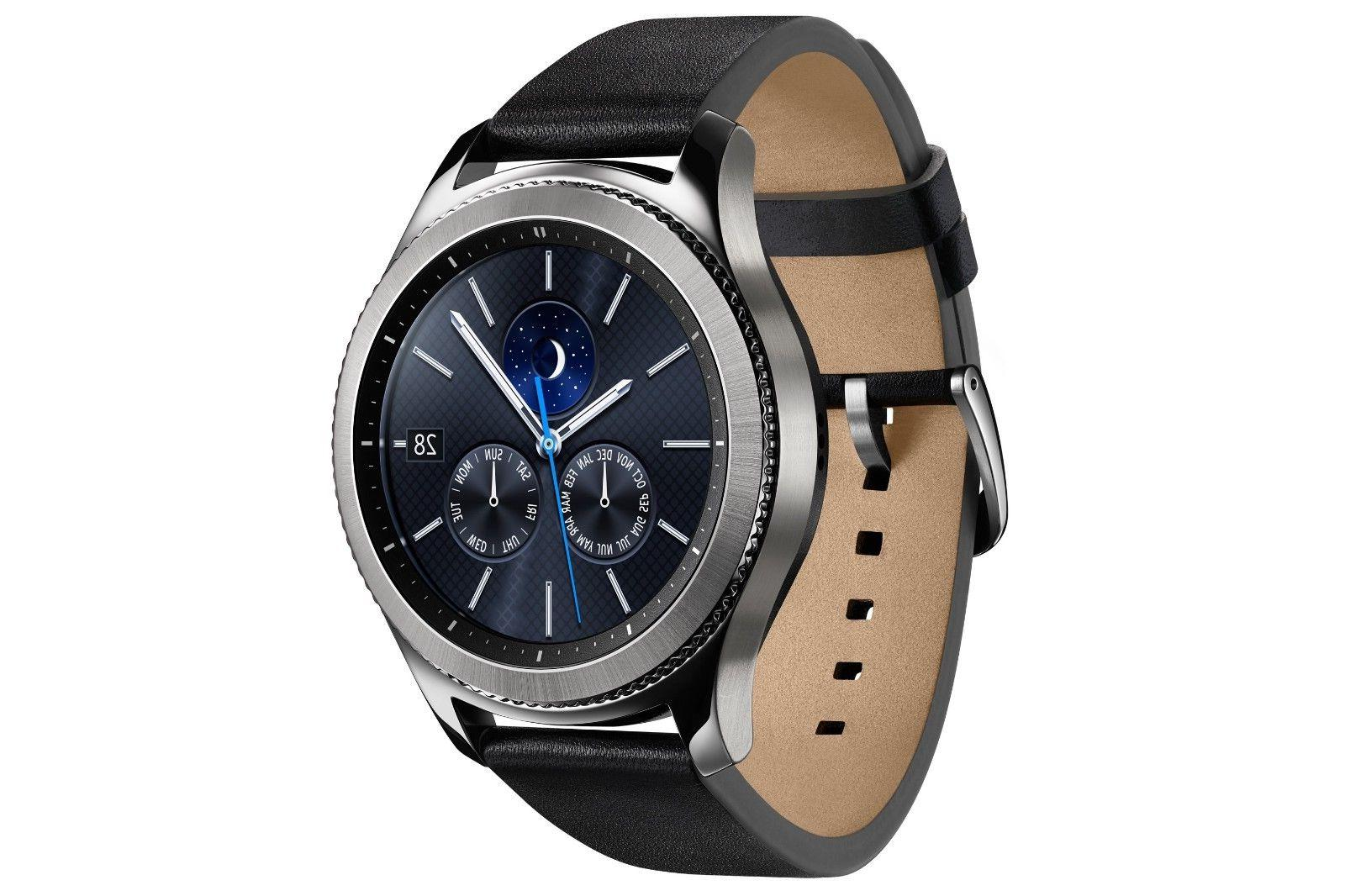 Samsung Galaxy Gear S3 Classic Stainless Steel Leather Band