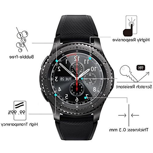 Gear Tempered Glass Protector, Premium Screen Film Samsung Gear S3 Frontier / Smart Watch