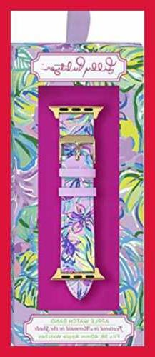 Lilly Pulitzer Genuine Leather Watch Band Sized To Fit 38Mm