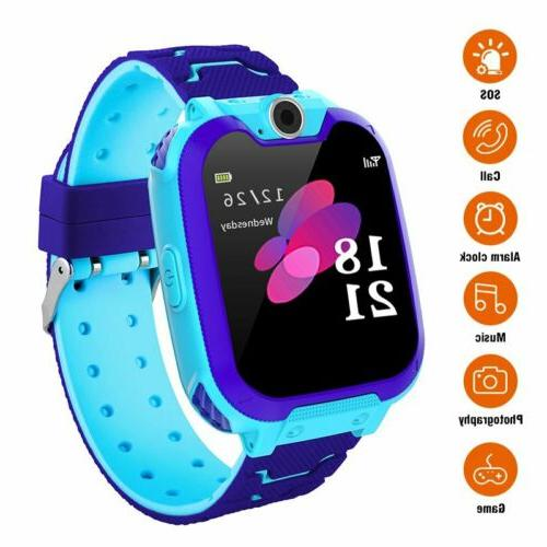GSM SIM Smart Watch Phone Touch Camera Games Alarm Anti-lost