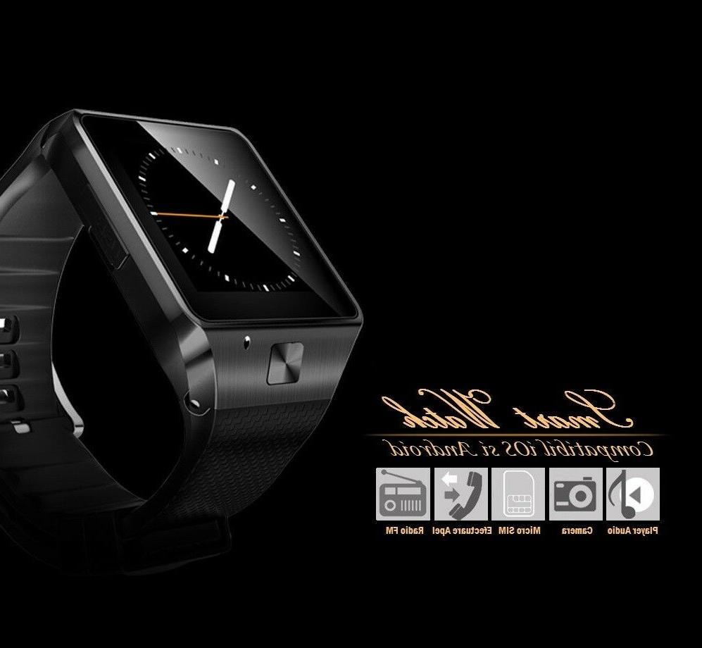 Latest Smart Watch with Text Call Mic for iPhone Samsung LG ZTE