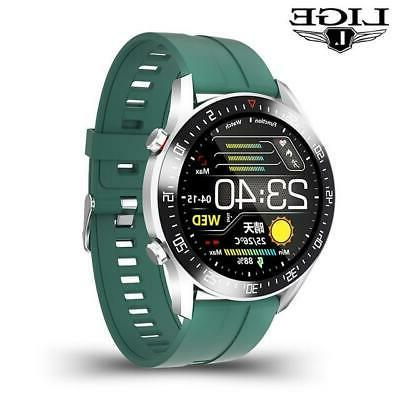 LIGE circle touch screen Mens Smart S
