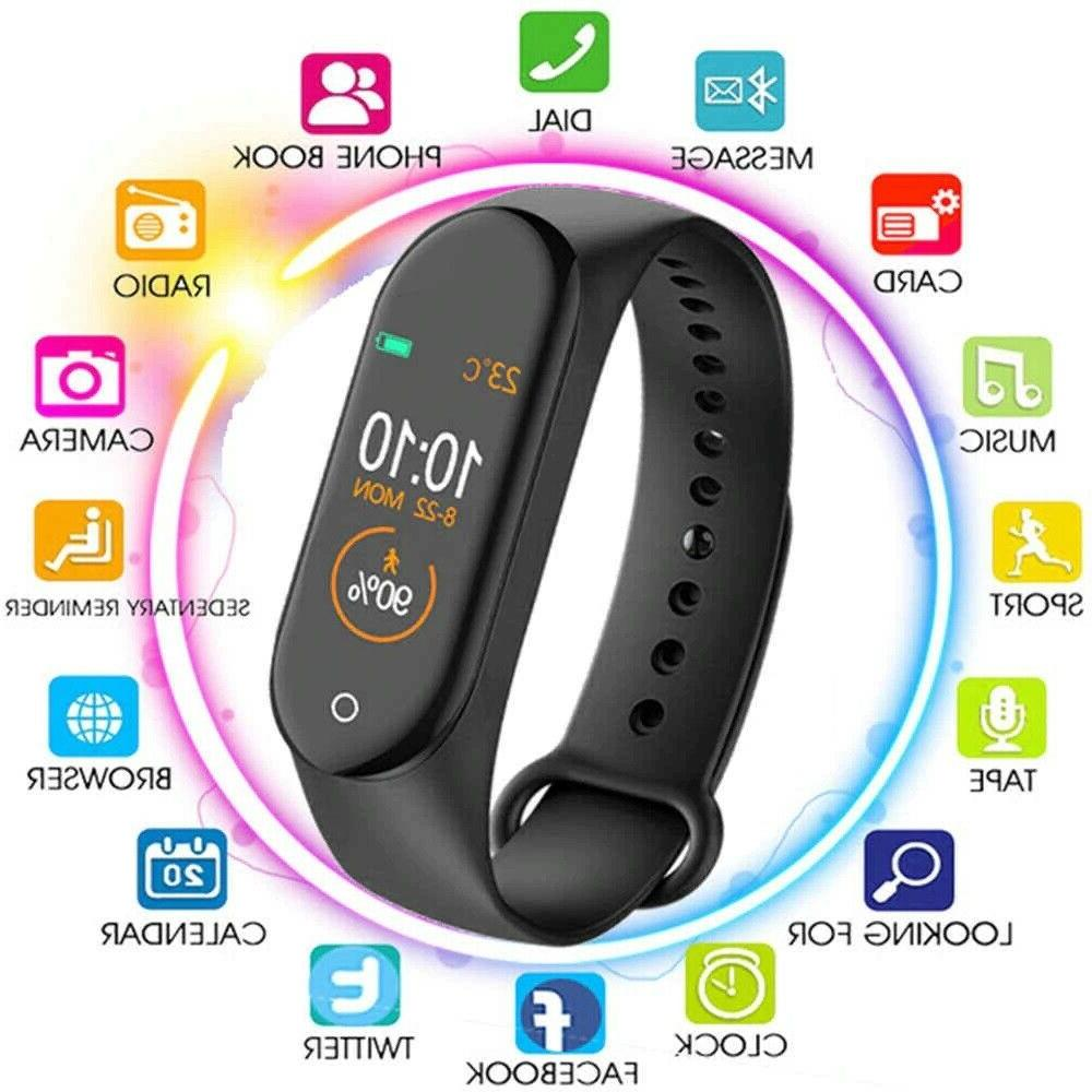M4 Watch Band Heart Rate Monitor Fitness Wristband