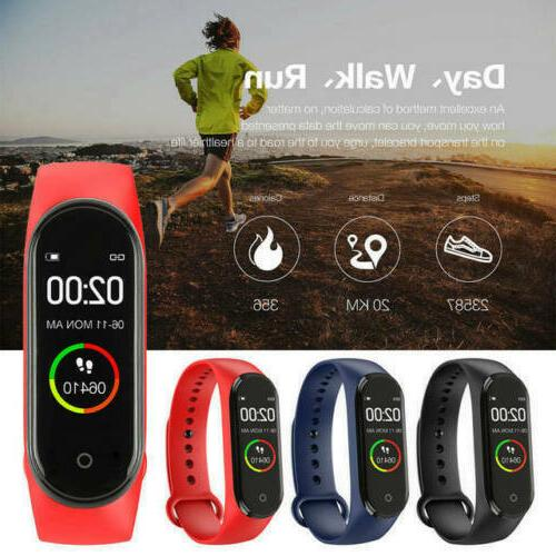 M4 Watch Heart Rate Blood Pressure Monitor Tracker Fitness