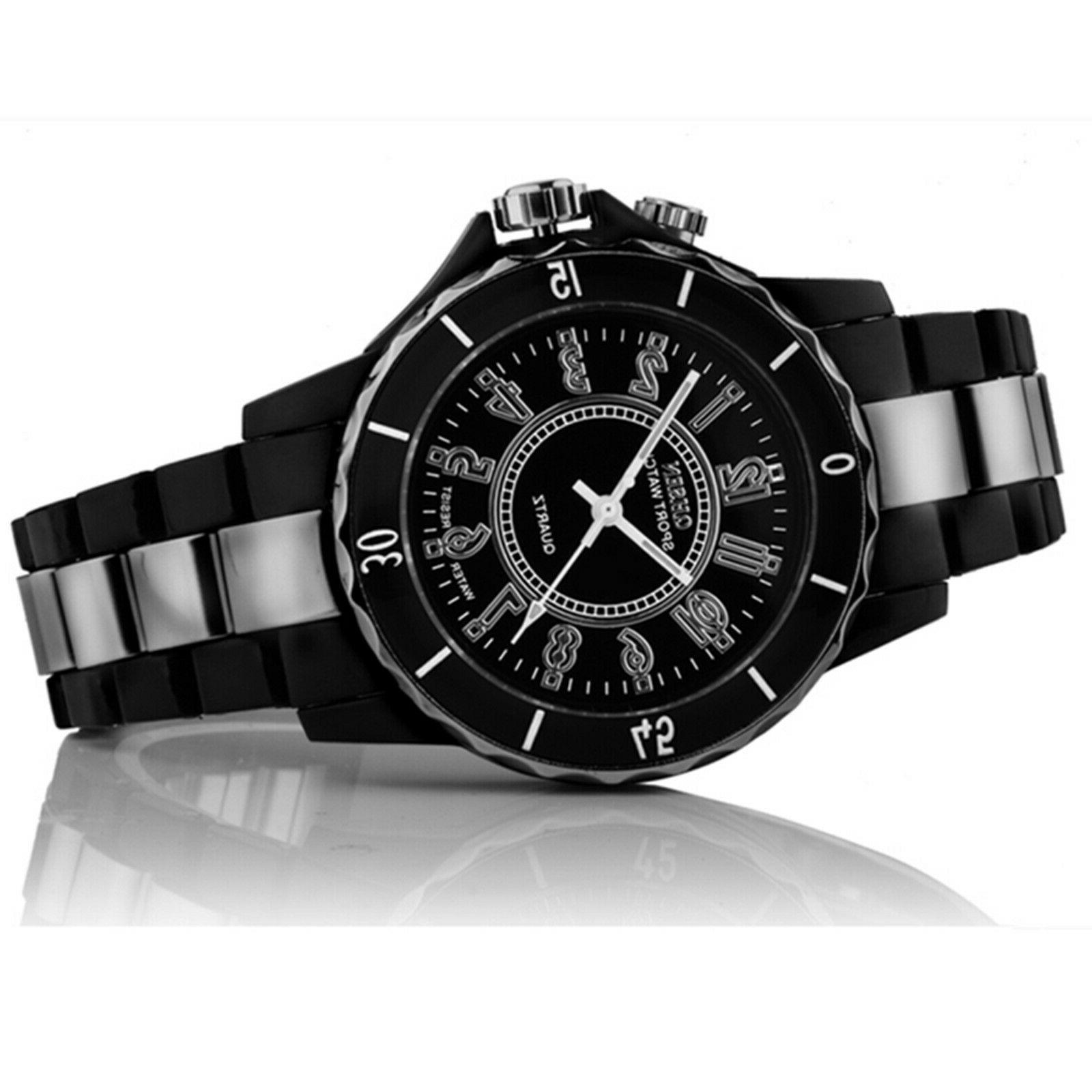 Men's Stainless Couples Wrist Watch LED Analog