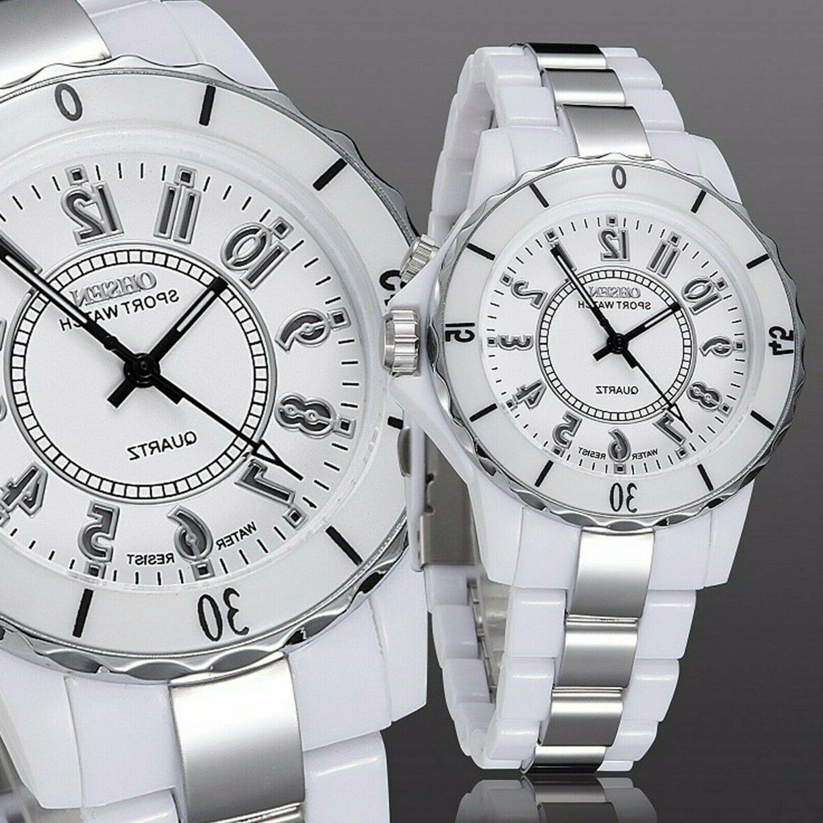 Men's Women's Couples Watch LED Analog