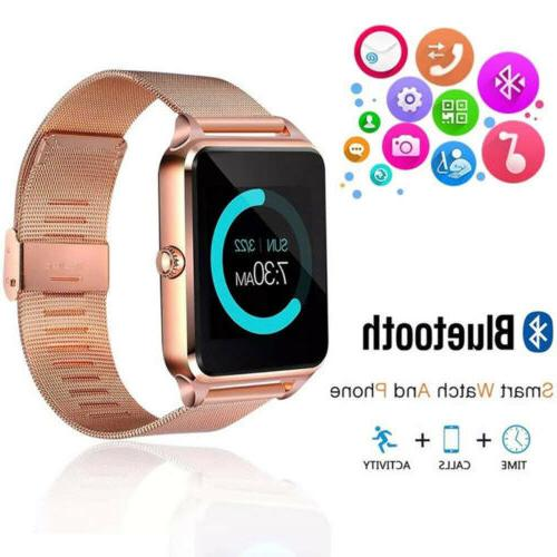 New Bluetooth Watch GSM SIM Mate Stainless IOS Android