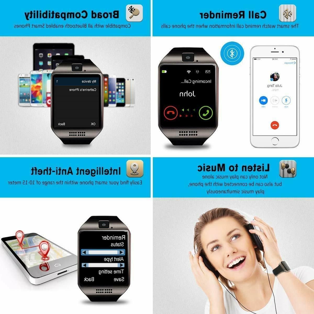 Q18 Smart Wrist Watch Bluetooth Phone iPhone LG