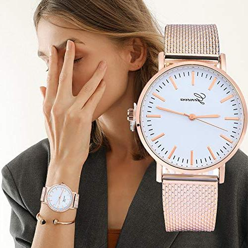 Women Quartz Watches,Fudule Wrist Ladies Watches with Stainless Clearance
