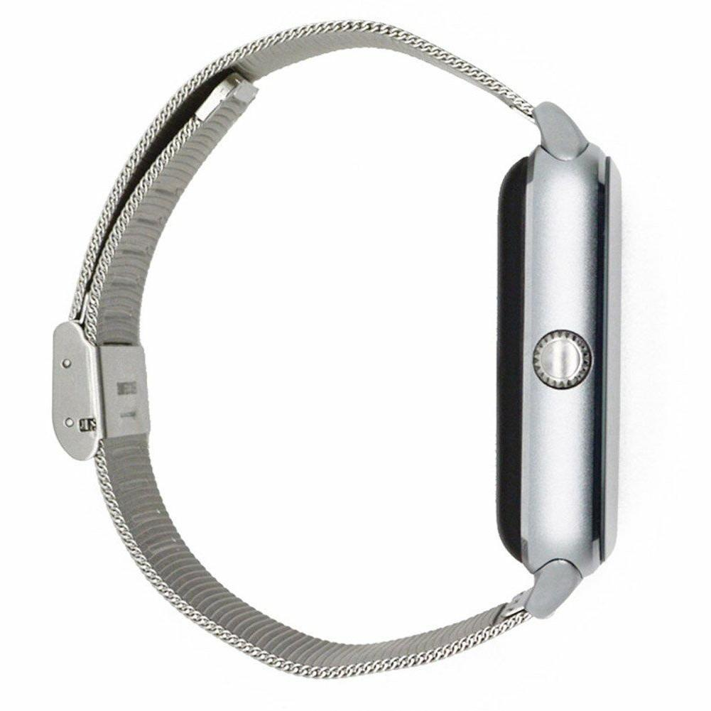 Silver Watch For Samsung 8 XR XS MAX LG G8 G7 Wrist