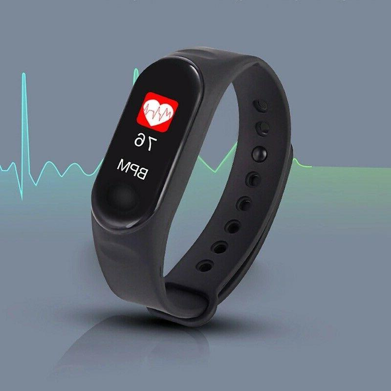 Smart Band Watch Bracelet Wristband Fitness Tracker Pressure HeartRate M3