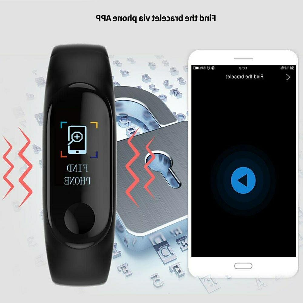 Smart Band Watch Wristband Fitness Blood Pressure HeartRate