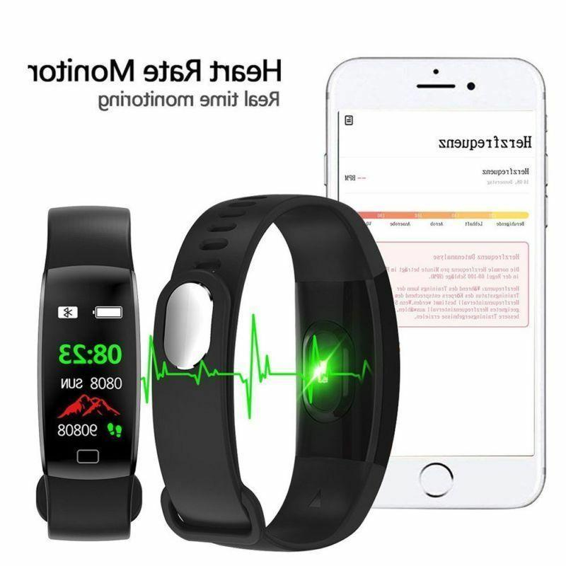 Smart Watch Band Rate Oxygen Blood Fitness Activity