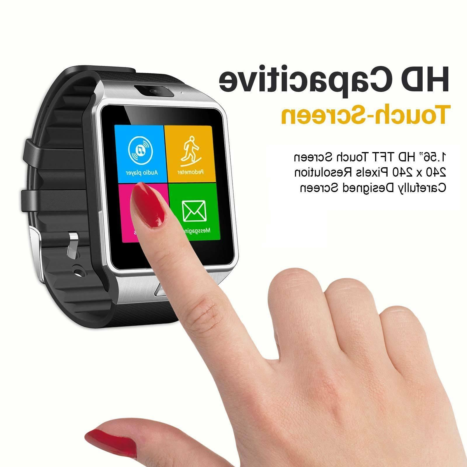 Smart Watch Mobile Phone Unlocked GSM Bluetooth3.0 Music Pla