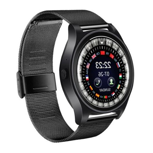 bluetooth smart watch compatible with iphone samsung