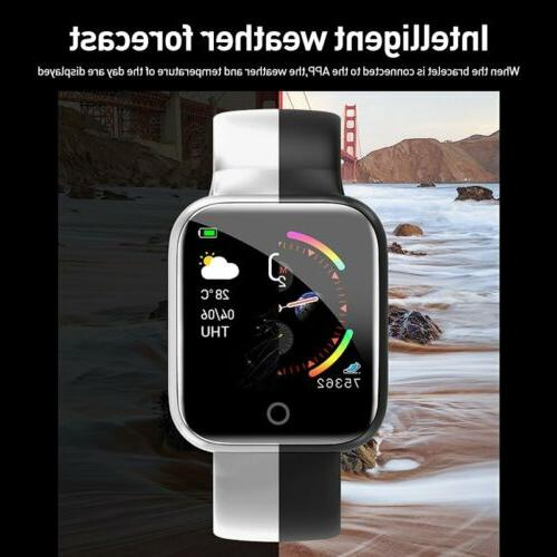Waterproof Smart Watch Women Men Rate Bracelet For