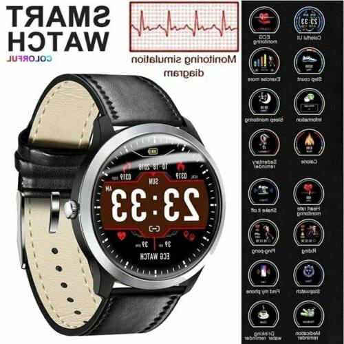 Men's Smartwatch ECG PPG Heart Rate Blood Pressure Monitor S