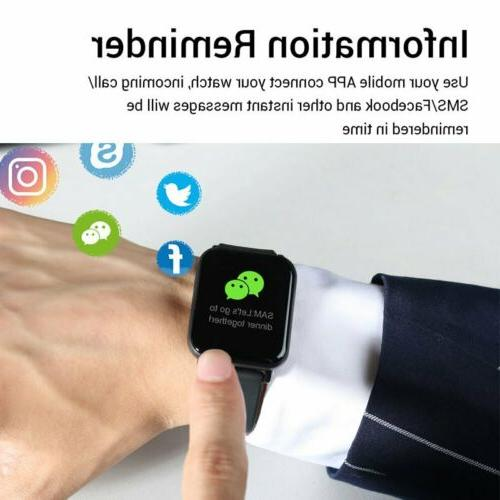 Touch Watch Men Heart Rate Bracelet For US