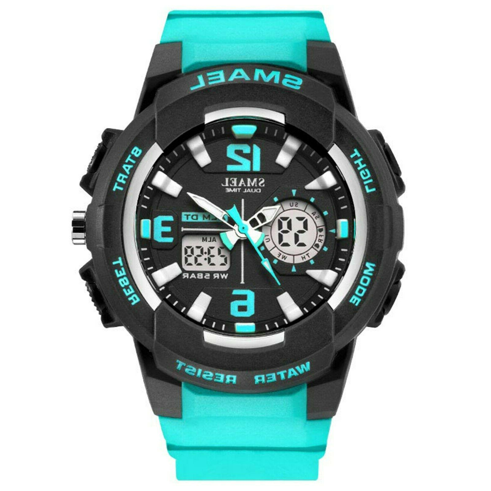 unisex electronic waterproof sports watch with analog