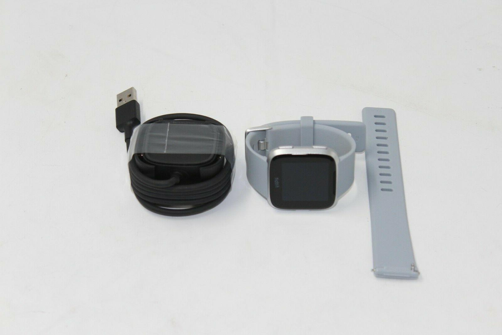 Fitbit Versa Smart Watch, Gray/Silver Aluminium, One Size