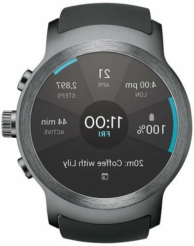 LG Watch Sport W280A Stainless Steel Black AT&T GSM Unlocked