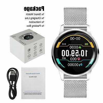 Waterproof Smart Watch Blood Pressure Heart Monitor Android