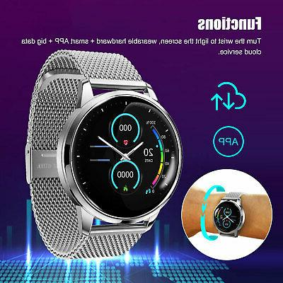 Waterproof Smart Watch Blood Heart Rate Monitor Android