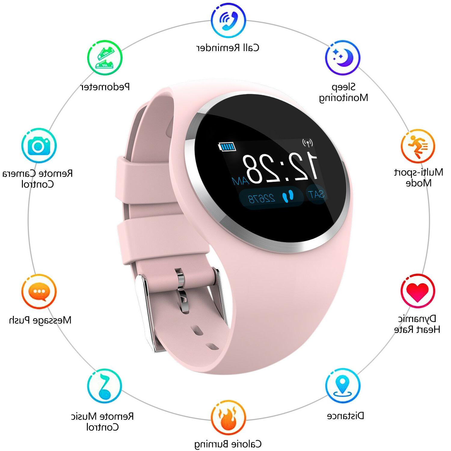 Women Girl Waterproof Bluetooth Smart Watch Ladies Phone Mat