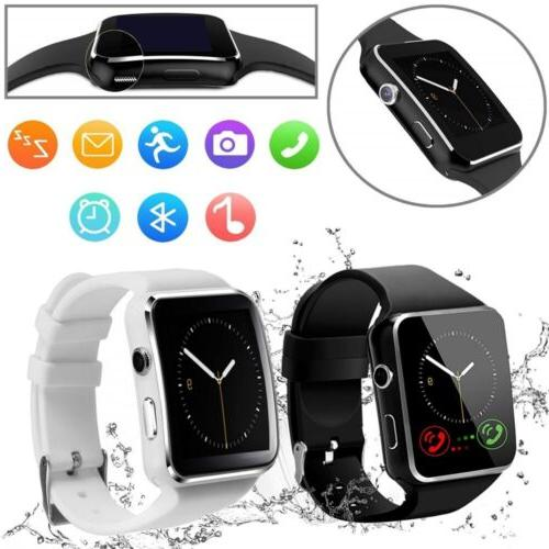 x6 curved screen bluetooth smart wrist watch