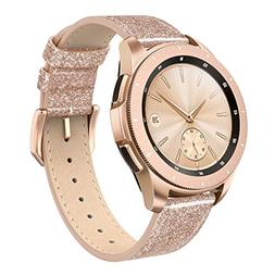 SWEES Leather Band Compatible Galaxy Watch 42mm, 20mm Genuin