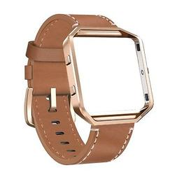 SWEES Leather Bands Compatible Fitbit Blaze Smart Watch Genu
