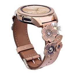 V-MORO Leather Strap Compatible with Galaxy Watch 42mm Bands