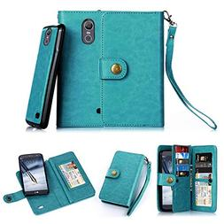 TabPow LG Stylo 3 Case, 10 Card Slot - ID Slot, Button Walle