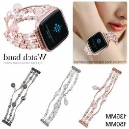 luxury noble fashion Jewelry Women strap for Fitbit versa sm