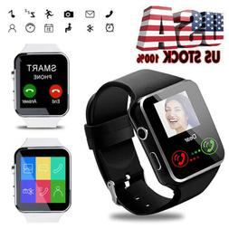 Men Bluetooth Smart Watch Unlocked Watch Remote Camera for A