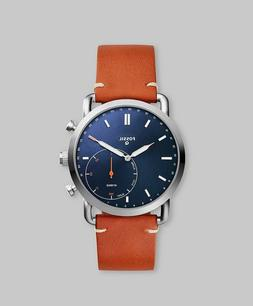 Fossil Men's Commuter Stainless Steel and Leather Hybrid Sma