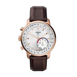 Fossil Men's Goodwin Stainless Steel and Leather Hybrid Smar