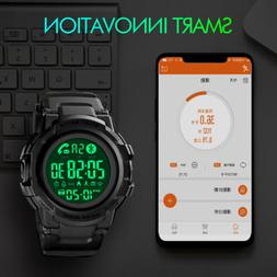SKMEI Men's Smart Sport Watch Digital Waterproof Message Rem