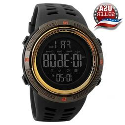 Men's Sport Army Military Alarm Calendar Dual 50M Waterproof