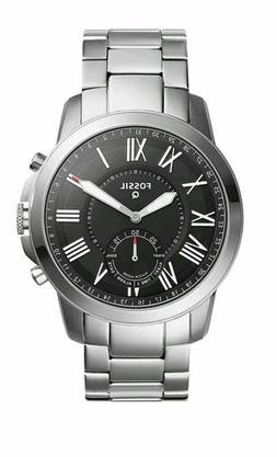 Fossil Mens Hybrid Smartwatch Grant Stainless Steel FTW1158
